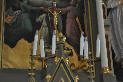 Číhošť - působiště Josefa Toufara, křížek na oltáři / foto IMA